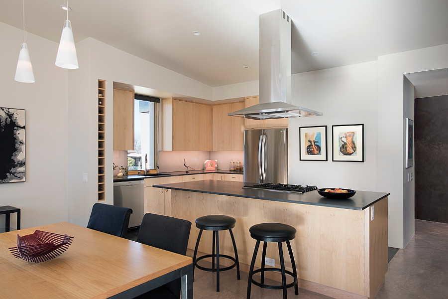 04LE Passive Solar Home kitchen 1