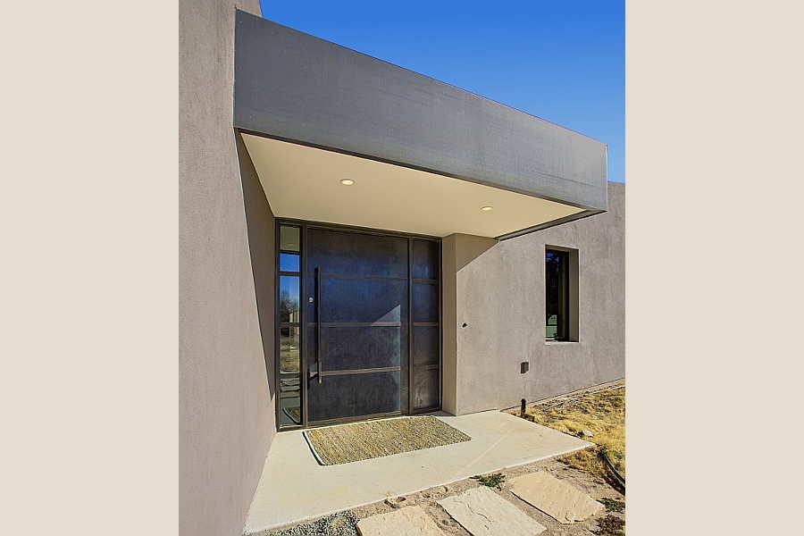 06LE Passive Solar Home exterior entry 1