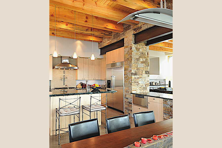 08RM Stone and Steel House dining room 1
