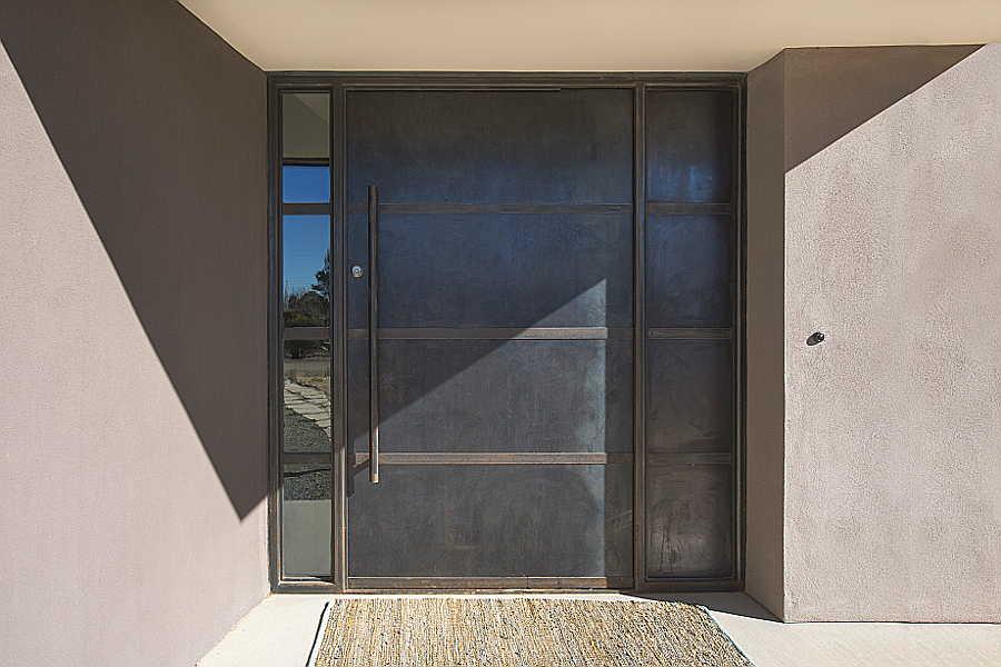 08RM Passive Solar Home steel door 1