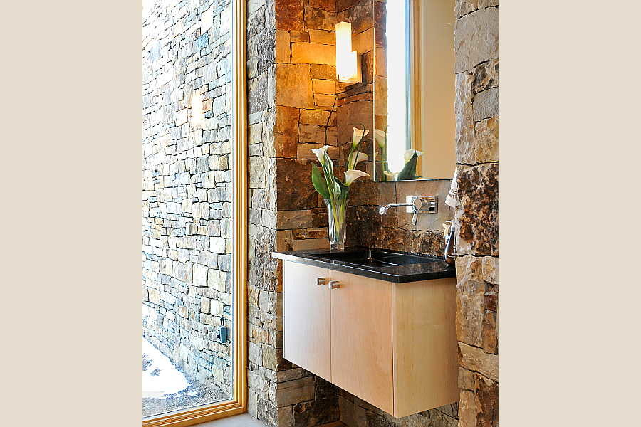 11 Stone and Steel                           House powder room 1