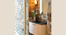 11RM Stone and Steel House powder room 1