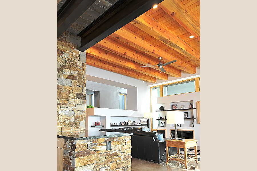17RM Stone and Steel House stone steel wood 1