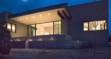 20RM Jemez Vista House exterior twilight 1